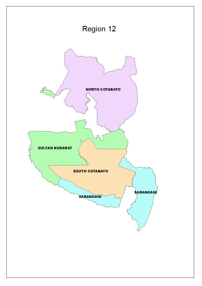 Region 12 Map Philippines PAGASA